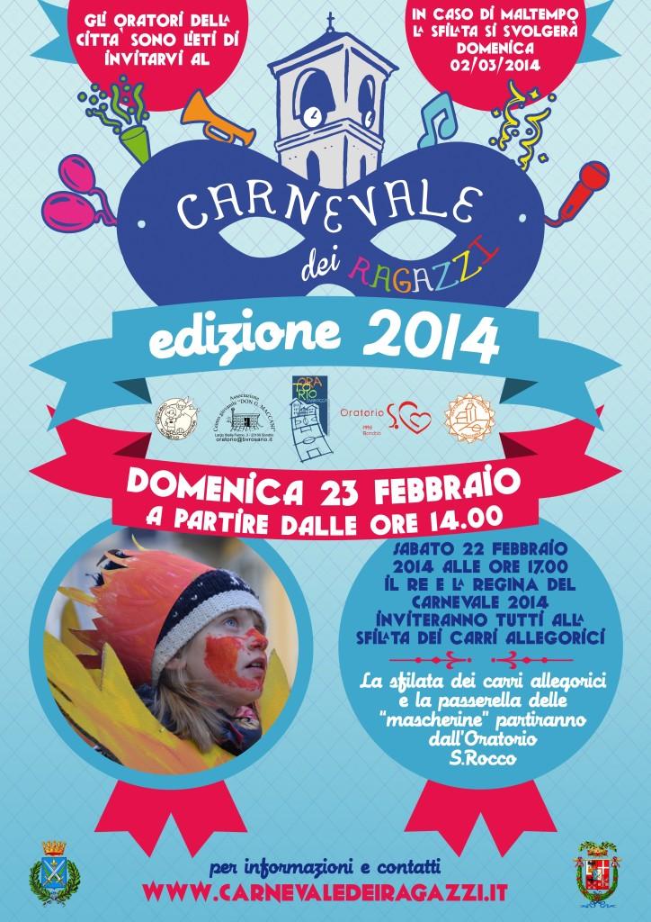 carnevale 2014 - locandina da esporre